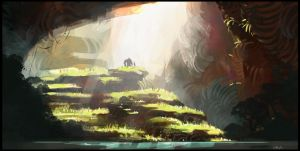 Cave opening by Nathan-Pierce