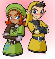 Karane and Pipit by rongs1234