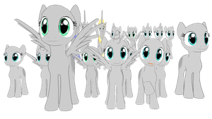 MMD - Pony Template Pack ( DL ) by Spidzy