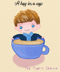 Patrick Jane in a teacup by Ridingthelight