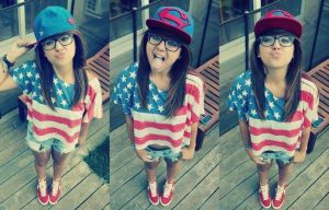 girl with USA shirt by Mira-Heart