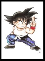 Son  Goku OLd school by Giosuke