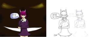 Day 38-40 - LoL Annie As A Teen Progress by LinkSketchit
