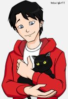 Billy Batson and a stray kitty by 4eknight11
