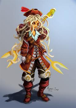 FSM pirate-girl by PaperImp