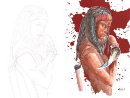Michonne Web by sequentialartist