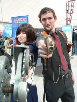 Booker Dewitt and Elizabeth Comstock PAX Aus 2013 by Kay-Niner-Cosplay