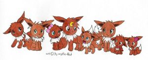 Eevee Sister family colored by mystic-blat