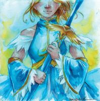 watercolor maiden by taintedsilence