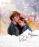 Ron and Hermione by PrincessPatsy