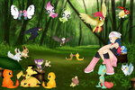 dawn in  celebi's  forest by twinlightownz
