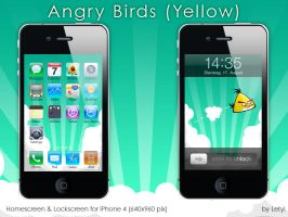 Angry Birds -Yellow- iPhone by Letyi