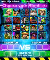 N3ON CITY RUMBLE Choose your Rumblers !!! by Darkdux