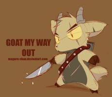 Goat my way out by maguro-chan