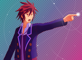 Objection! - Sora (No Game No Life x Ace Attorney) by AlphSteins