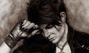Adam Lambert Pencil by SnapBanditWolf