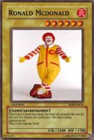 yu gi oh card: Ronald McDonald by dragynnboy