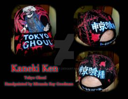 Hat Hand Painted Kaneki Ken by mandykat