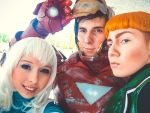 Guy Gardner, Tora Olafsdotter and Iron Man by Megane-Saiko