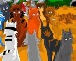 Brambleclaw and Squirrelflight by WhiteFlameSoul