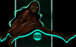 Across the Spectrum : Aqua -Widescreen- by DriftingFeather