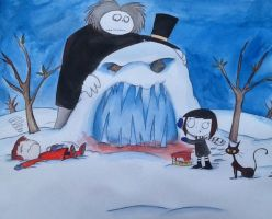 Marilyn, Meek, and Mr. Frostbite (Art Gift) by exkhale