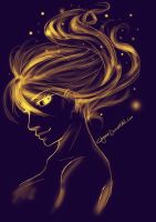 Golden fire by Chyana