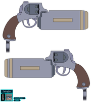 Atomic Robo Science Revolver by leinglo