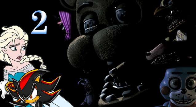 Frozen Shadow nights at Freddy's 2 Wallpaper by Elsa-Shadow
