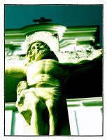 Crucifix and the Temple by vikingexposure