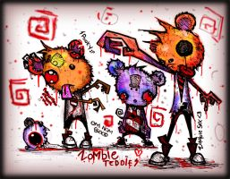 Zombie Teddies by SinclairStrange