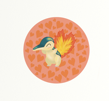 Cyndaquil by s-cormier-art