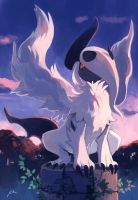 Mega Absol by bluekomadori