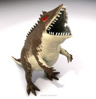 Made in China plastic dinosaur by PaleoFreak