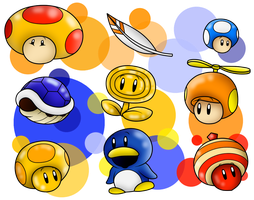 Random Mario's Power-Ups 2 by SuperLakitu
