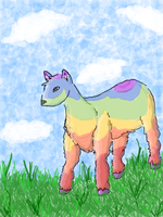 Baa baa, Rainbow sheep by chrnoskitty