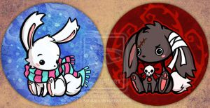 bunny buttons by sandara