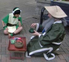 Toph: Tea Time with Iroh by vivid-anxiety