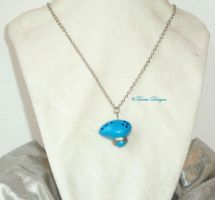 Zelda Ocarina of Time Pendant Necklace Hand Sculpt by TorresDesigns