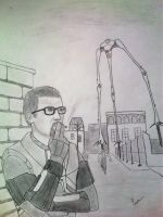 Gordon Freeman-smoking break by rammstein08