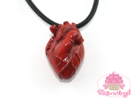 Realistic Heart Necklace by Metterschlingel