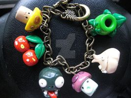 plants vs zombies bracelet by gutterlily10