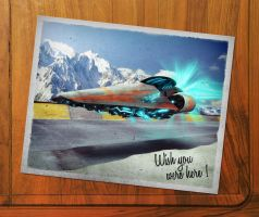 Wipeout Postcard by averto