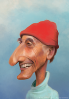 Jaques Cousteau by Phillustrator-uk