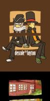 Descole x Layton by khrssc