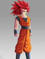 redesign Goku super saiyan god by kakarotoo666