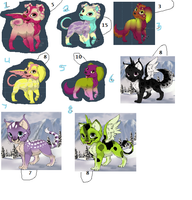 FREE adoptables closed finally by furryupsidedown