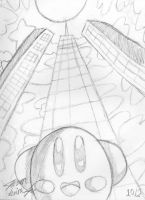Big City Kirby Sketch by theunknown1