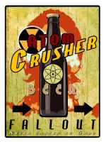 Atom Crusher Beer Tee by inception8