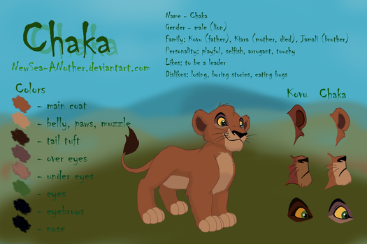 Chaka: reference sheet by NewSea-ANother